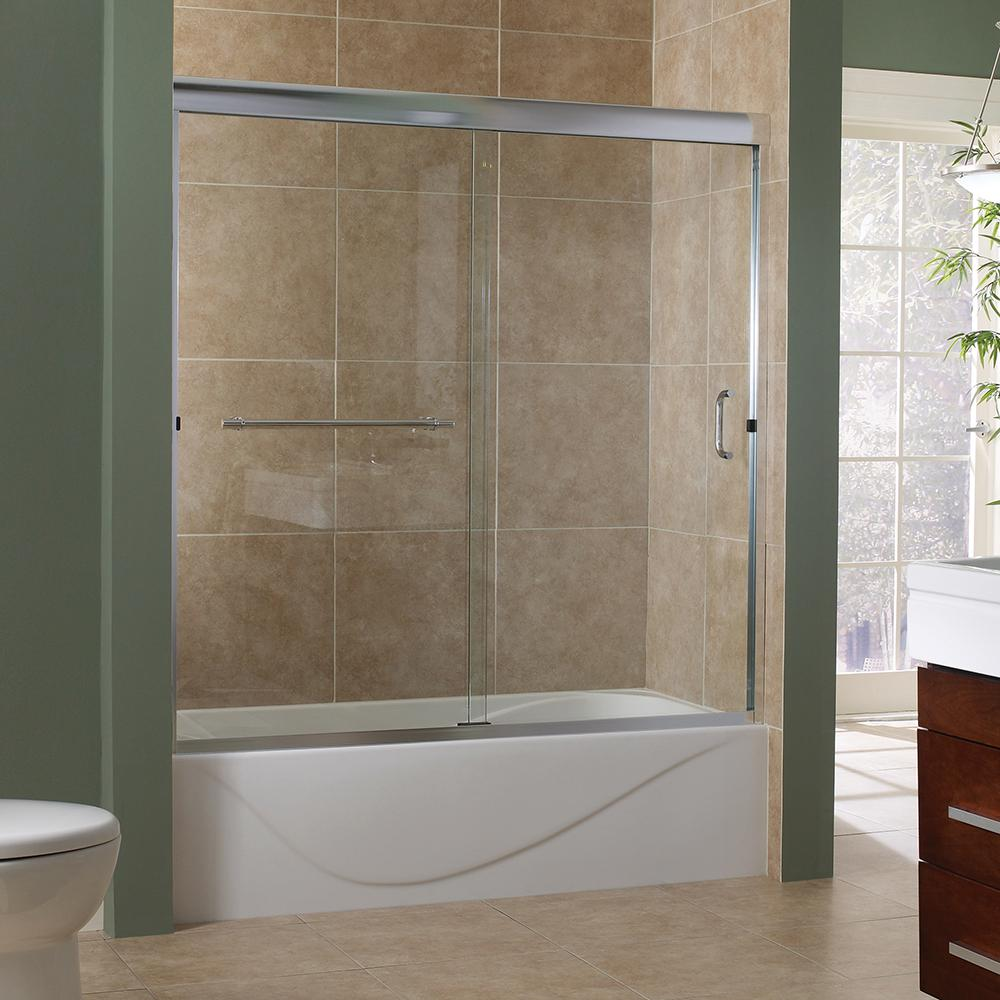 Marina 60 in. x 60 in. Semi-Framed Sliding Tub Door in