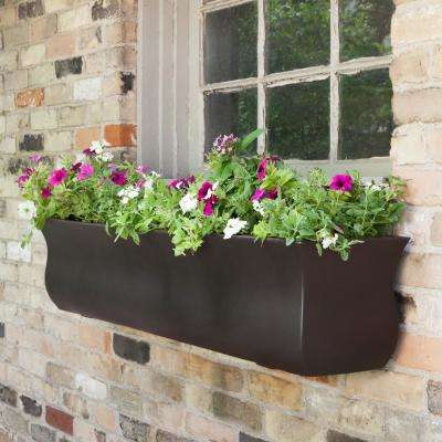 Valencia 4 ft. Espresso Polyethylene Window Box