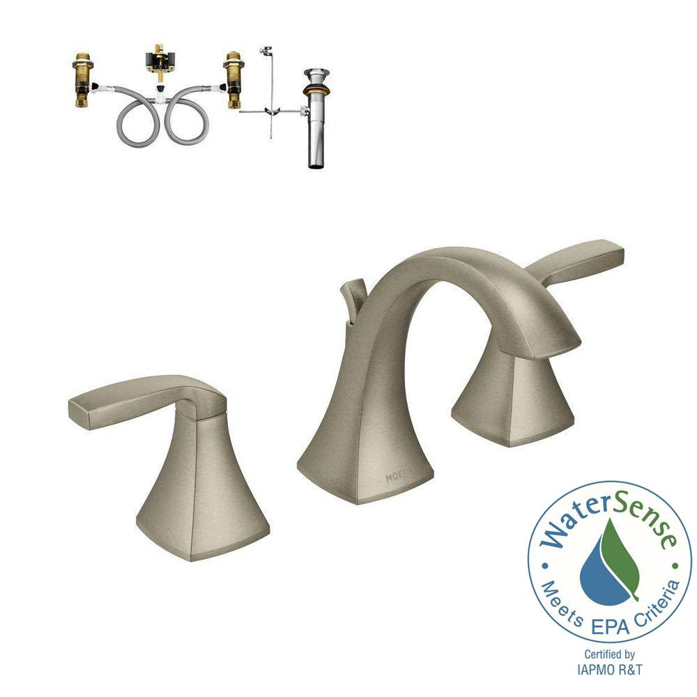 MOEN Widespread Bathroom Faucet Rough-In Valve with Drain Assembly ...