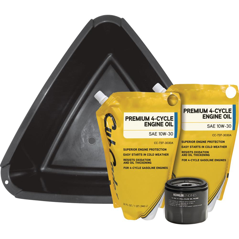 Cub Cadet Oil Change Kit for Cub Cadet Riding Mower with Kohler Engines