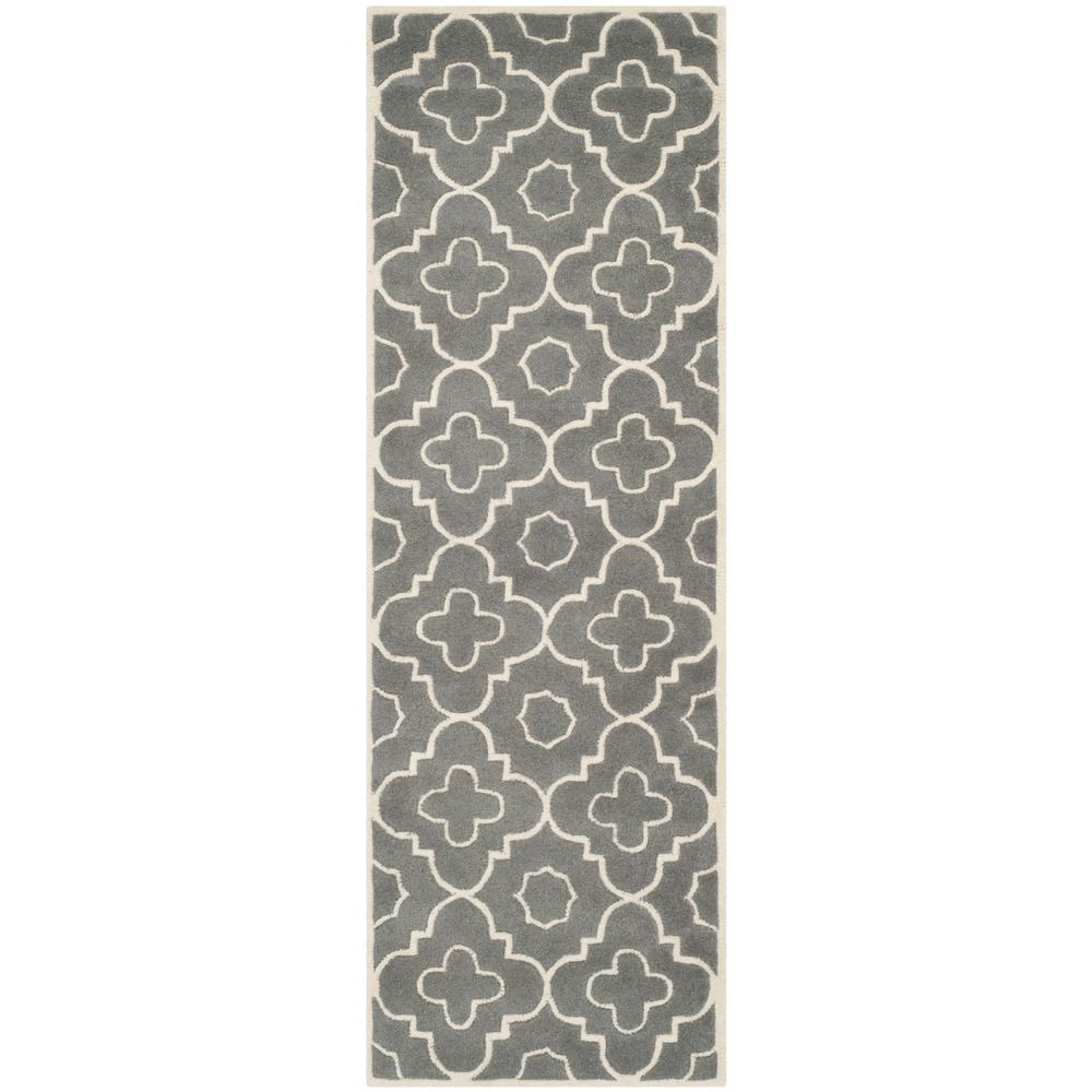 Chatham Dark Gray/Ivory 2 ft. 3 in. x 5 ft. Runner