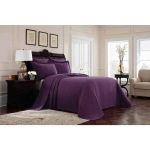 Williamsburg Richmond Purple Queen Bedspread