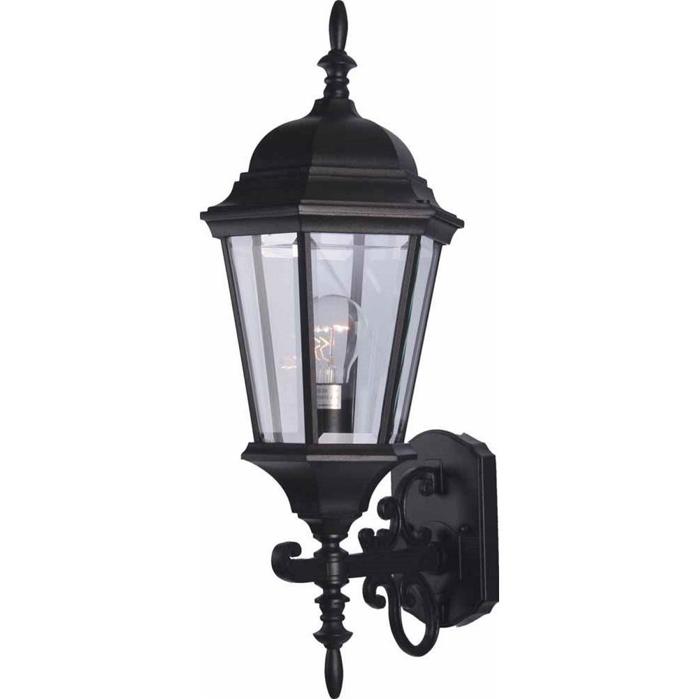 Volume Lighting 1-Light Black Out door Wall Sconce-V8211-5 ...