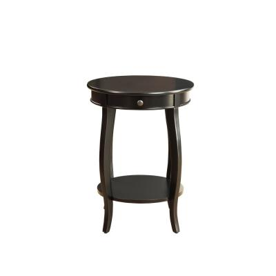 Amelia Black Wood Veneer Side Table