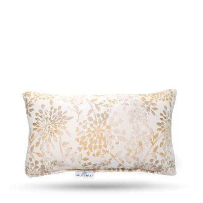 Outdura Whisper Antique Rectangular Lumbar Outdoor Throw Pillow (2-Pack)