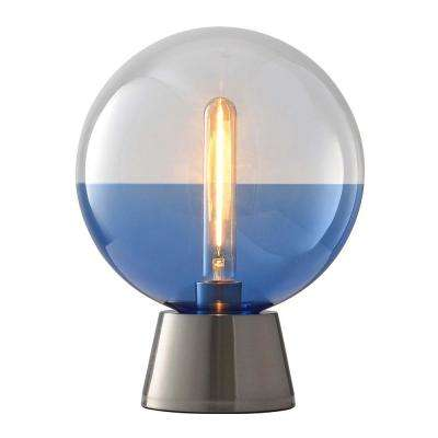 Surfrider 13 in. Ocean Blue Table Lamp