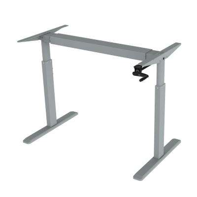 Grey Adjustable Height Crank Desk Frame (Table Top Not included)