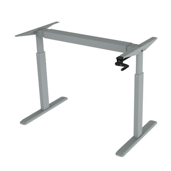Canary Grey Adjustable Height Crank Desk Frame (Table Top Not Included)