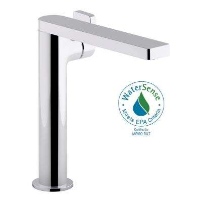 Incroyable Composed Single Hole Single Handle Tall Vessel Bathroom Faucet With Lever  Handle And Drain