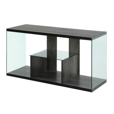 SoHo 48 in. Weathered Gray Particle Board TV Stand with 1 Drawer Fits TVs Up to 50 in. with Open Storage