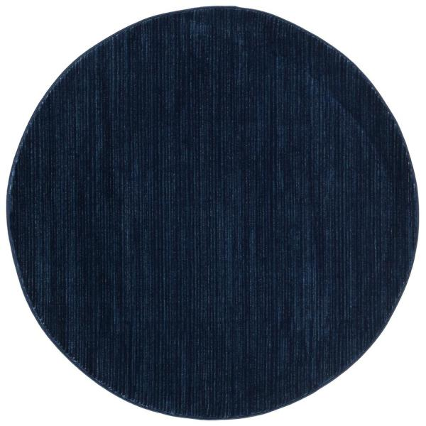 Vision Navy 5 ft. x 5 ft. Round Area Rug