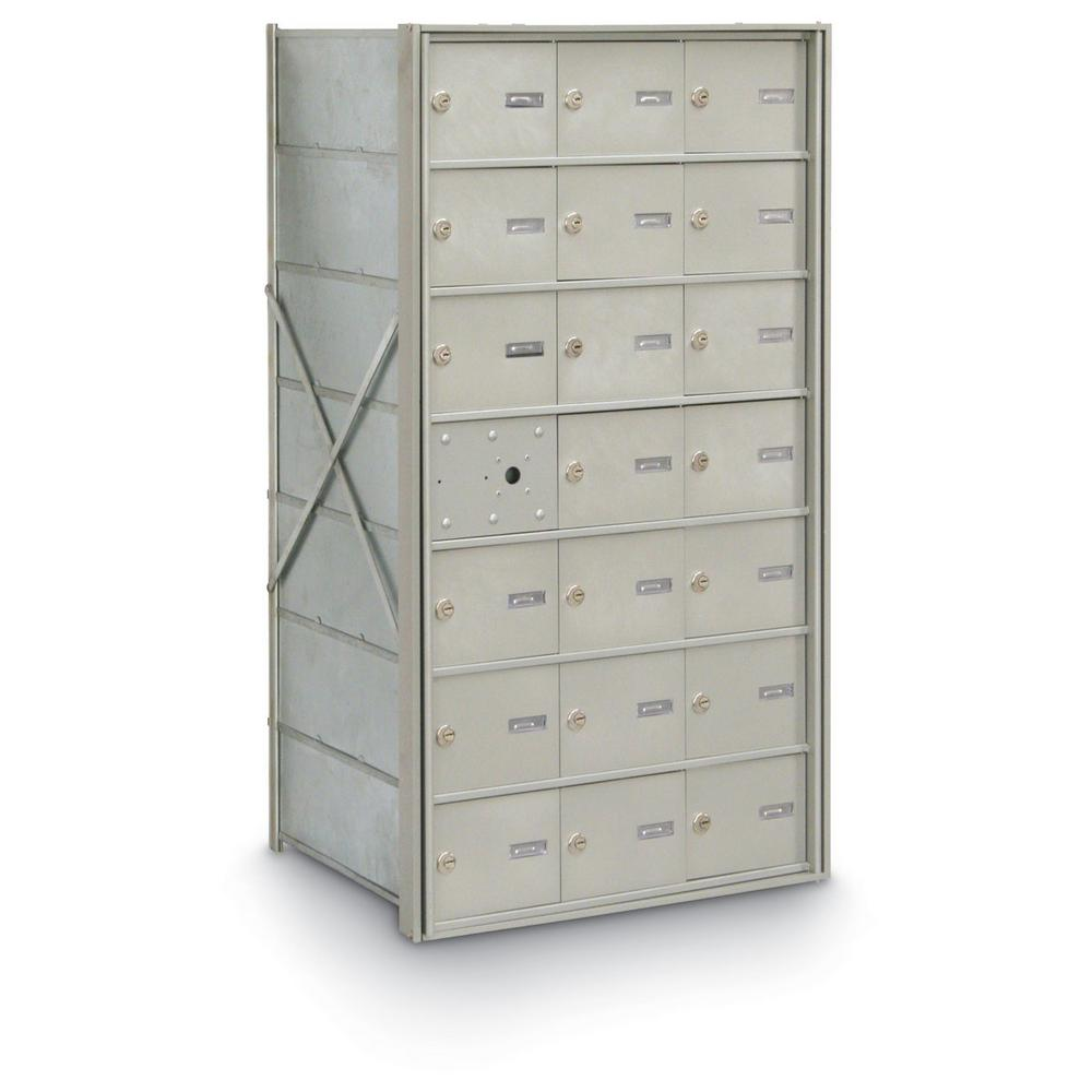 20-Compartment Front Load 4B+ Horizontal Mailbox
