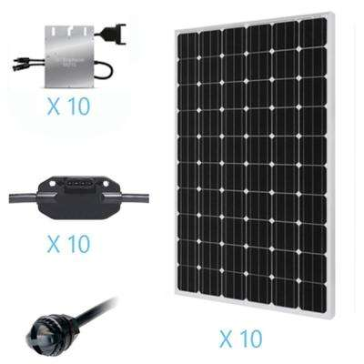 2500-Watt Monocrystalline On-Grid Solar Kit for Solar System