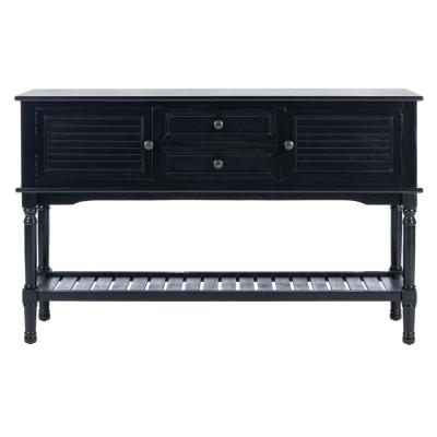 Tate 47.3 in. Black Storage Console Table
