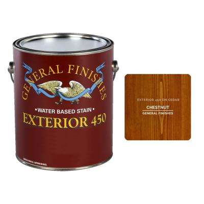 1 qt. Exterior 450 Chestnut Water-Based Wood Stain