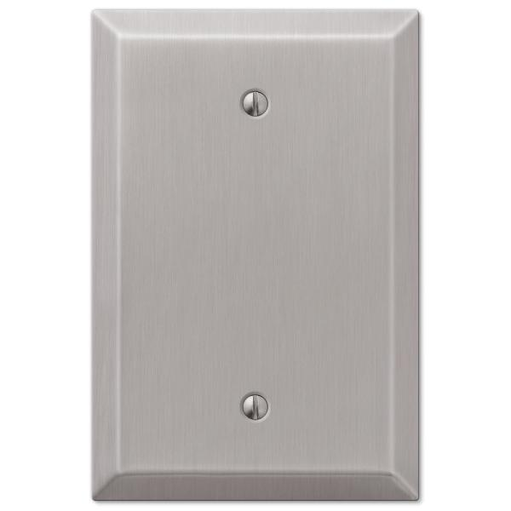 Oversized 1 Gang Blank Steel Wall Plate - Brushed Nickel