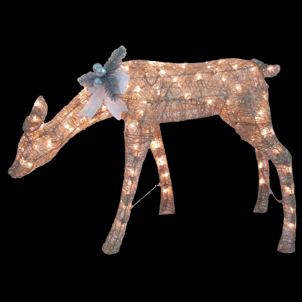 Home Accents Holiday 24 In. Pre-Lit Gold Doe-TY351-1411