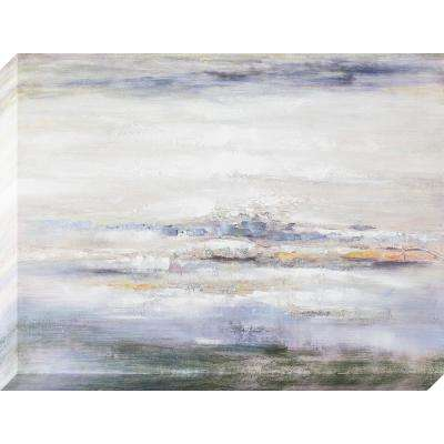 40 in. x 30 in. Ocean Abstract Oil Painted Canvas Wall Art