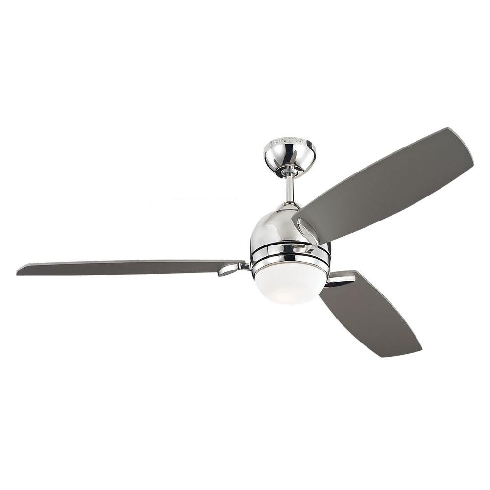 Monte Carlo Muirfield 52 In Polished Nickel Ceiling Fan