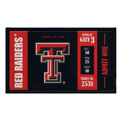 Texas Tech University 30 in. x 18 in. Vinyl Indoor/Outdoor Turf Floor Mat