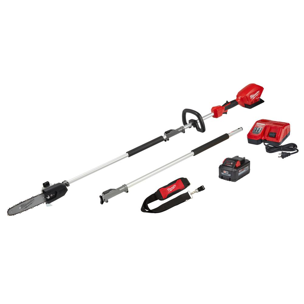 Milwaukee M18 FUEL 10 in. 18-Volt Lithium-Ion Brushless Cordless Pole Saw Kit with Attachment Capability and 8.0 Ah Battery