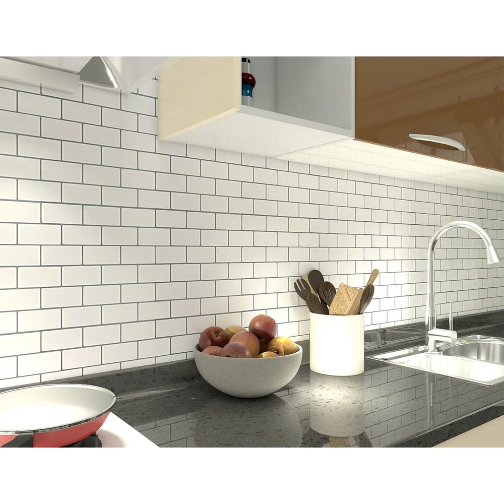 - Art3d 12 In. X 12 In. Peel And Stick Vinyl Subway Backsplash Tile