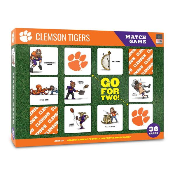 Youthefan Ncaa Clemson Tigers Licensed Memory Match Game 2501000 The Home Depot