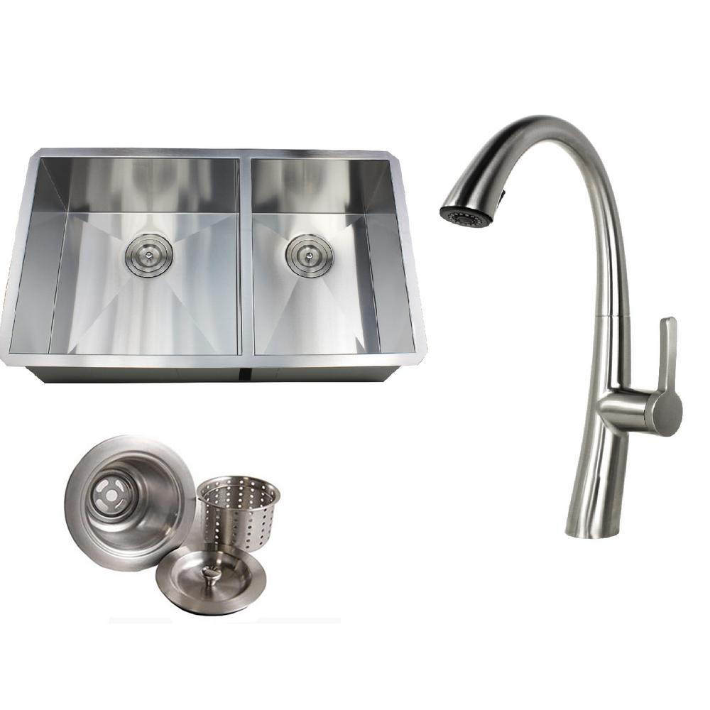 Kingsman Hardware Undermount 32 In X 19 In X 10 In Deep Stainless
