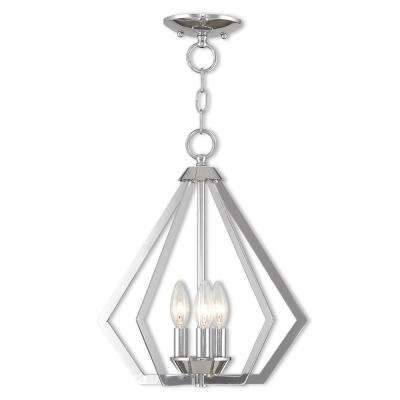 Prism 3-Light Polished Chrome Convertible Chandelier