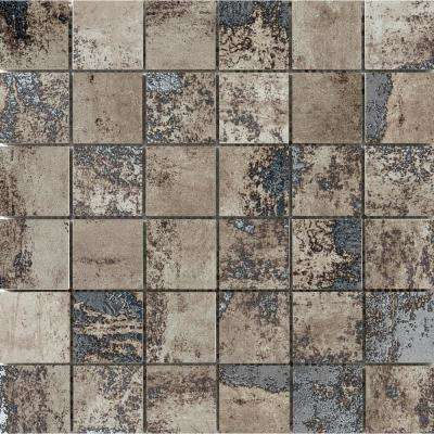 Chemistry Taupe 11.81 in. x 11.81 in. x 9mm Porcelain Mesh-Mounted Mosaic Tile (0.97 sq. ft.)