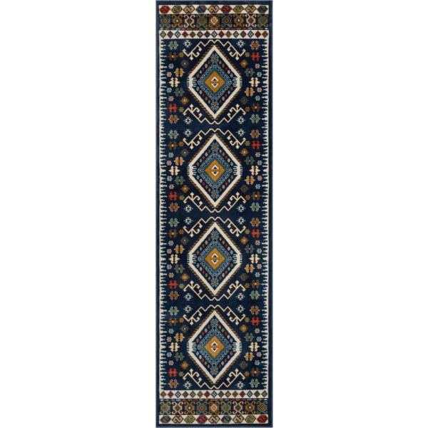 Well Woven Tulsa Lea Traditional Vintage Southwestern Tribal Crimson 2 Ft 7 In X 7 Ft 3 In Runner Rug Tu 100 2 The Home Depot