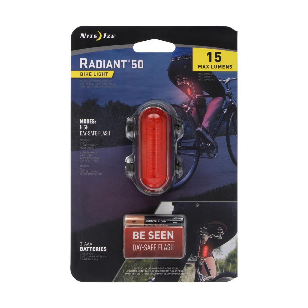 Radiant Red 50-Lumen Bike Light