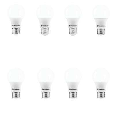 40-Watt Equivalent A19 Non-Dimmable CEC LED Light Bulb Soft White (8-Pack)