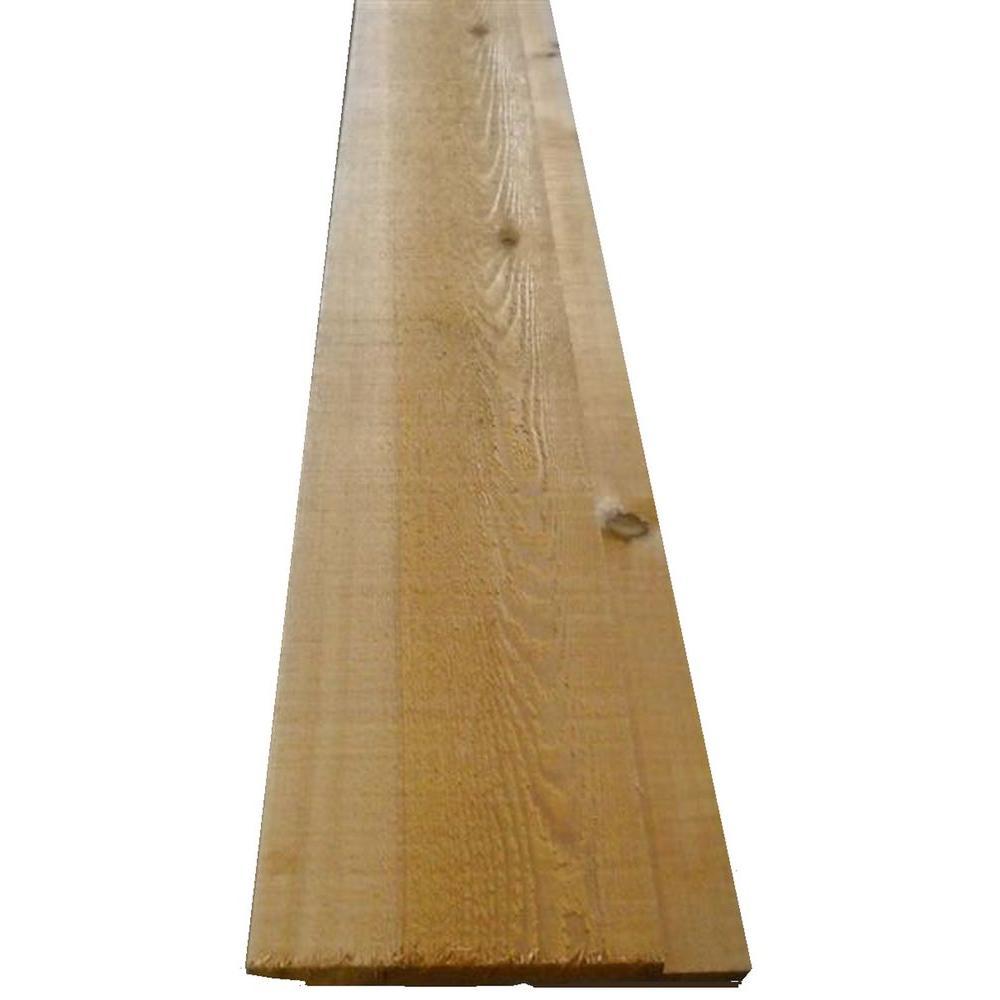 1 In X 10 In X 12 Ft Western Red Cedar Channel Siding Board 0031012 The Home Depot