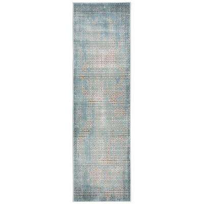 Karma Blue 2 ft. x 8 ft. Runner Rug