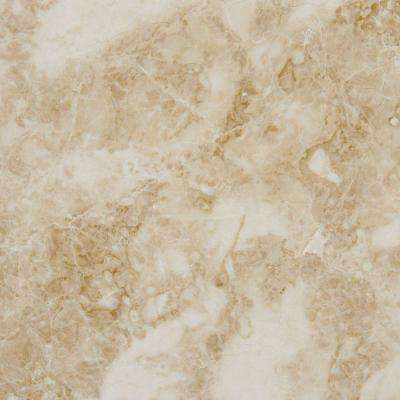 Cappuccino 18 in. x 18 in. Polished Marble Floor and Wall Tile (9 sq. ft. / case)