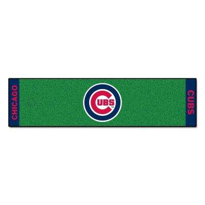 MLB Chicago Cubs 1 ft. 6 in. x 6 ft. Indoor 1-Hole Golf Practice Putting Green