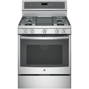 Click here to buy GE Profile 30 inch 5.6 cu. ft. Gas Range with Self-Cleaning Convection Oven in Stainless Steel by GE Profile.