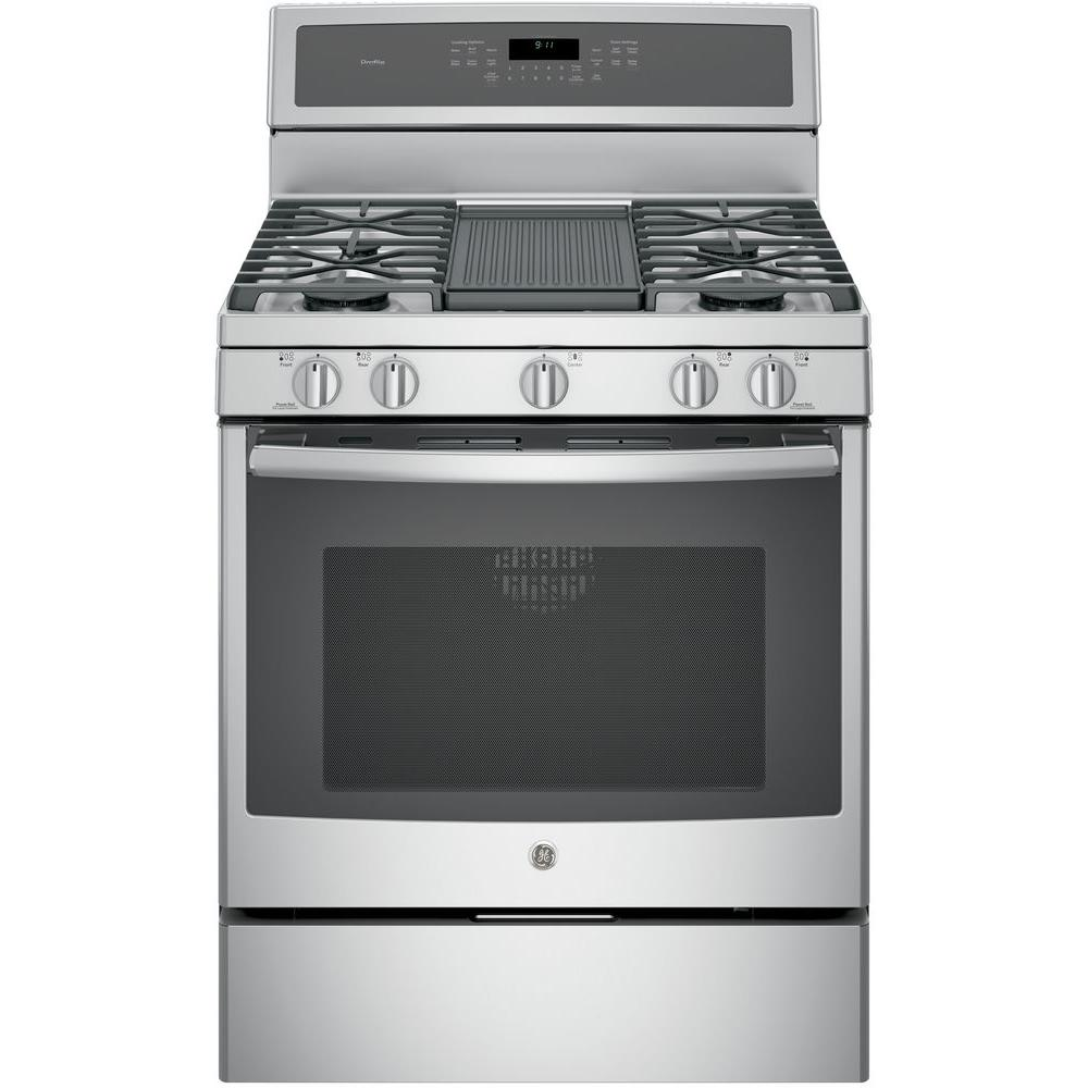 Gas Range With Self Cleaning Convection Oven In Stainless Steel
