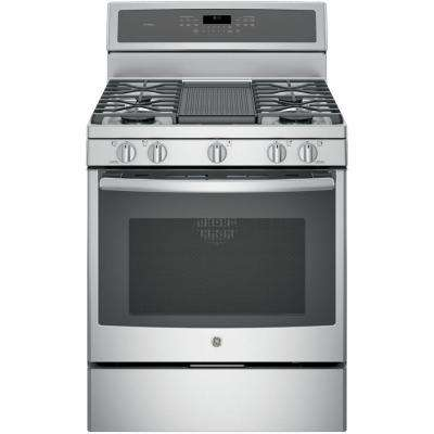 Profile 30 in. 5.6 cu. ft. Gas Range with Self-Cleaning Convection Oven in Stainless Steel