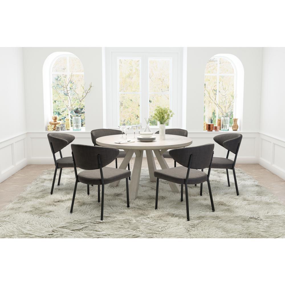 Pontus Charcoal Gray Dining Chair Set Of 2