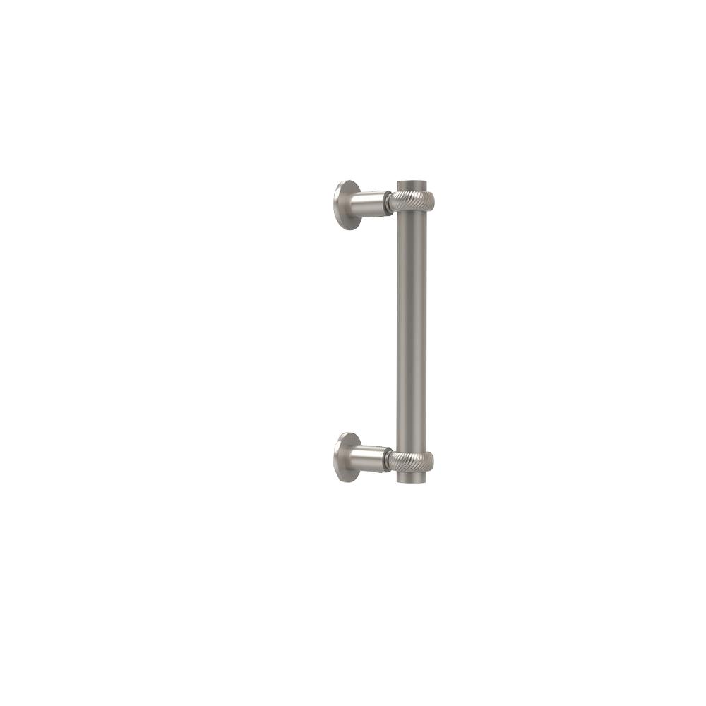 Allied Brass Contemporary 8 in. Back to Back Shower Door Pull in Satin Nickel
