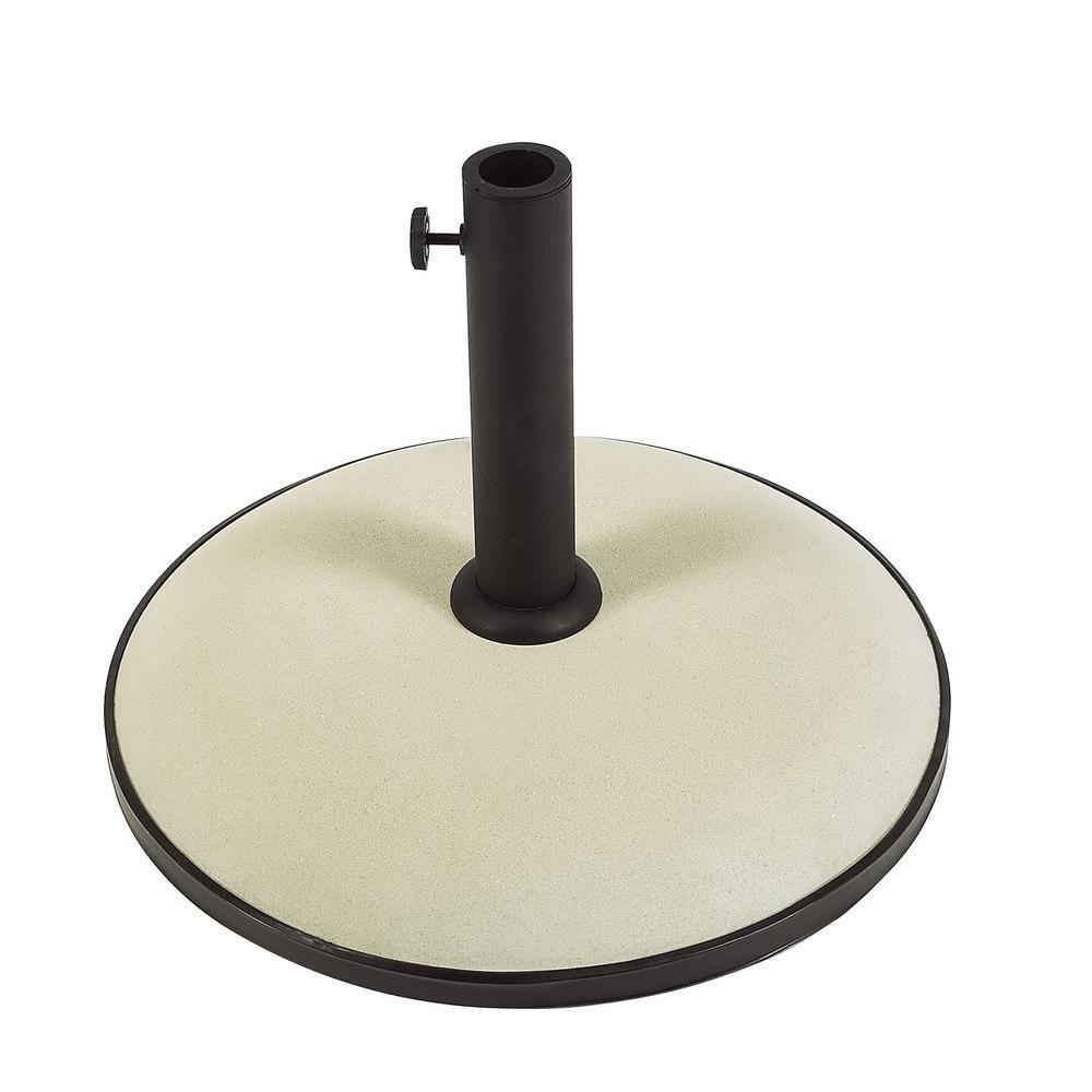 55 lb. Concrete Patio Umbrella Base in Beige