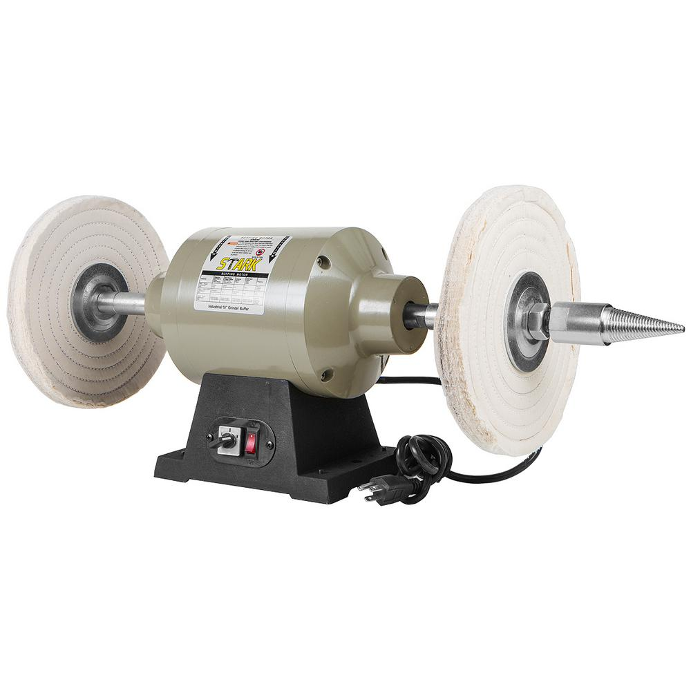 Xtremepowerus 10 In Benchtop Heavy Duty Buffer Polisher Grinder