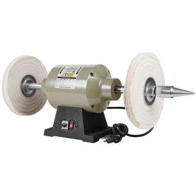 10 in. Benchtop Heavy-Duty Buffer Polisher Grinder