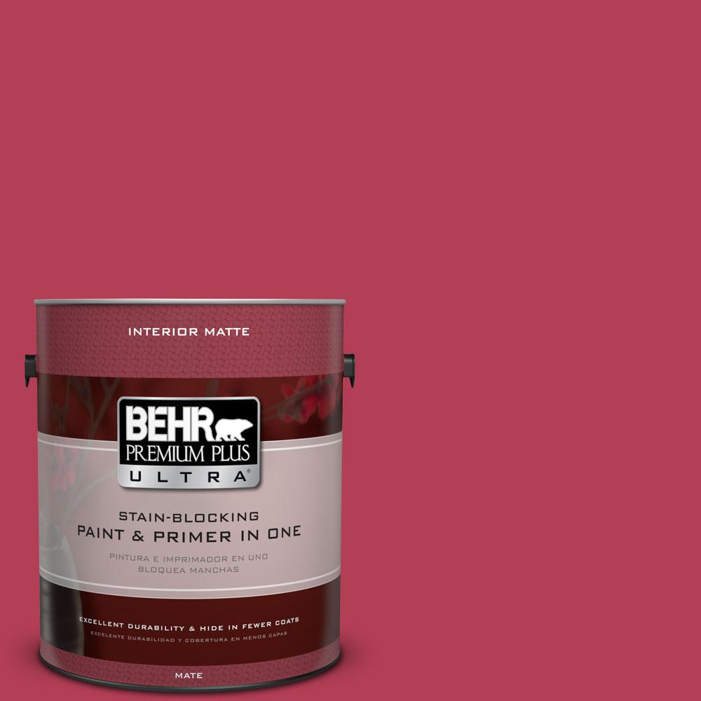 1 gal. #130B-7 Cherry Wine Flat/Matte Interior Paint