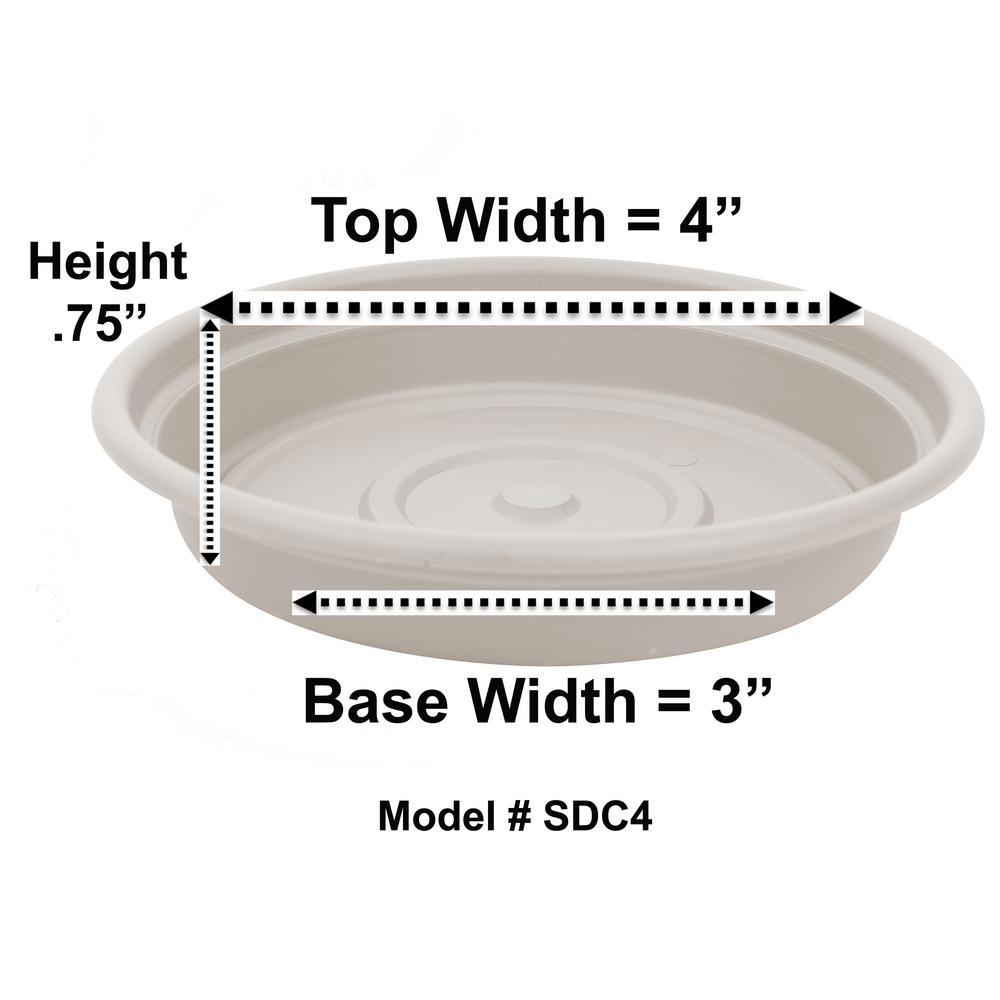 Dura Cotta 4 in. Taupe Plastic Saucer