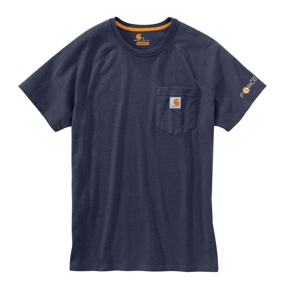 Force Delmont Men's Regular XXXX Large Navy Cotton Short Sleeve T-Shirt