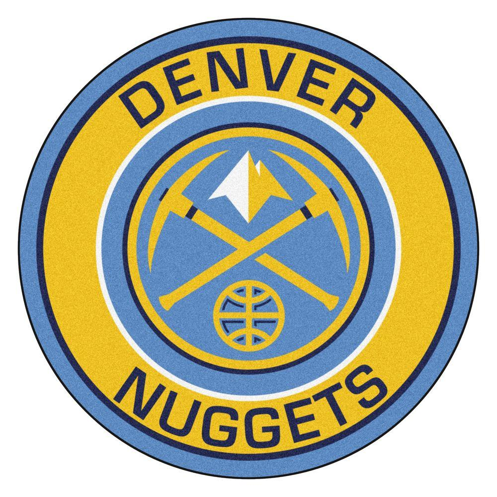 FANMATS NBA Denver Nuggets Gold 2 Ft. X 2 Ft. Round Area