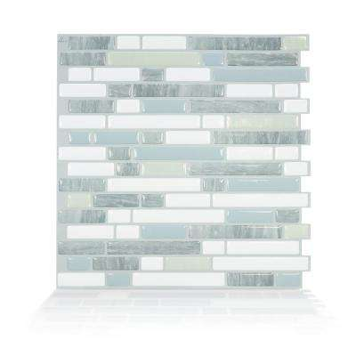 Bellagio Costa 10.06 in. W x 10.00 in. H Peel and Stick Self-Adhesive Decorative Mosaic Wall Tile Backsplash (4-Pack)